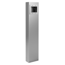 Outdoor Power Pedestal, 2-Gang Device Plate with Internal Divider