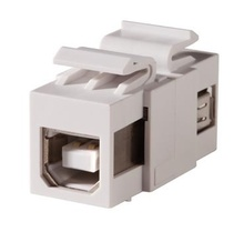 Keystone, USB Type A-B, Feed-Thru, Reversible, Cloud White