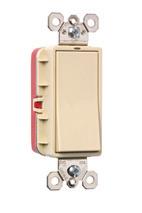 PlugTail® Three-Way Illuminated Decorator Switch 20 amp, Ivory