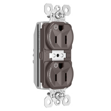 PlugTail® Tamper-Resistant Heavy-Duty Spec Grade Plug Load Controllable Receptacle, 15A, 125V, Brown