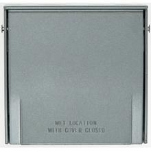 Outdoor Heavy Cast Aluminum Multigang Cover, Gray