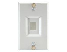 Keystone Wall Phone Plate, White