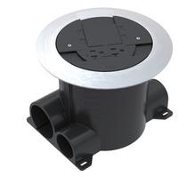 Ratchet-Pro Round Dual Service Nonmetallic Concrete Floor Box