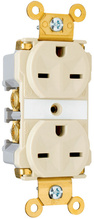 Industrial Extra Heavy-Duty Spec Grade Receptacles, Back & Side Wire, 15A, 250V, Red