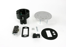863DRGFICOMAL Series Dual Service Floor Box Kit