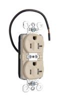 PlugTail® Tamper-Resistant Split Circuit Spec Grade Receptacle, 20A, 125V, Ivory