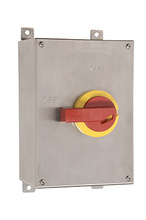 Stainless Steel Safety Switch with Auxiliary Contact, 100 Amps