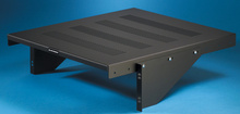 Cantilevered Vented Equipment Shelves - 17.5 W x 1.45 in H x 20 in D - black