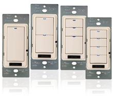 DLM Wall Switch, 2-Button w/IR, Ivory, USA