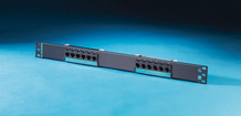 Clarity 6 12-port Category 6 patch panel - six-port modules - 19 in x 1.75 in