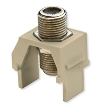 Non-Recessed Nickel F-Connector, Ivory