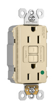 PlugTail® Hospital-Grade 15A Self-Test GFCI Receptacle, Ivory