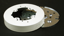 Wiremold 500/700 Series Solid Base Fan Box Fitting, Ivory