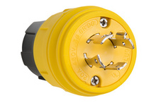 20A, 3° 480V Turnlok® Watertight Plug, NEMA 4X/6P, Yellow