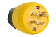 20A, 3° 480V Turnlok® Watertight Plug, NEMA 4X/6P, Yellow