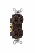 Heavy-Duty Spec Grade Receptacles, Back & Side Wire, 15A, 250V, Brown