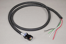 POWER CABLE FEMALE/FEMALE BLACK CASING 17IN