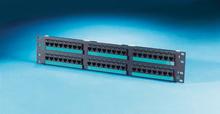 Clarity 5E 48-port panel - Cat 5e - high density - eight-port modules - 19 in x 3.5 in