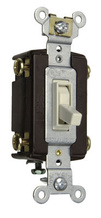 TradeMaster Self-Grounding 4-Way Toggle Switch, Light Almond