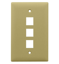 1-Gang, 3-Port Wall Plate, Ivory