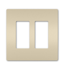 radiant® Two-Gang Screwless Wall Plate