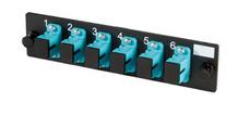 6-SC Simplex multimode aqua adapters with ceramic aqua alignment sleeves