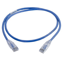 3FT Q-Series Cat6a Snagless Slim Patch Cord - Blue