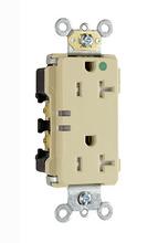 15A Extra Heavy-Duty Decorator Power Indicating Hospital-Grade Receptacle, Ivory