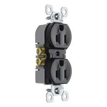 15A/125V TradeMaster® Duplex Receptacle, Black