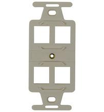 4 Port Keystone Duplex Type-106 Wall Strap, Light Almond