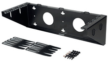 Vertical Wall Mount Bracket - 19 in mounting x 2 rack units - black
