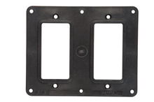 2-Gang  2-GFCI Cover Plate, Black