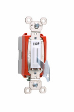Industrial Extra Heavy-Duty Specification Grade Lock Switch Back & Side Wire, White