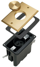 Tamper-Resistant Floor Box Assembly - One Gang for Wood Sub-Floors