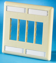 TRACJACK FACEPLATE, EIGHT-PORT (DUAL GANG), PLASTIC