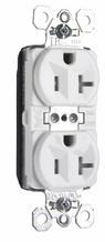PlugTail® Tamper-Resistant Spec Grade Receptacles, 20A, 125V, White