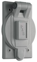Flip Lid Weatherproof Cover for 20/30A Turnlok®, Gray