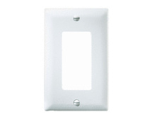 1-Gang Decorator Wall Plate, White