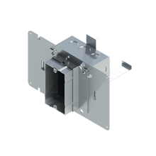 4'' Square Box with 1-Gang 5/8'' Plaster Ring and 1 Grounded PlugTail Receptacle Connector with protective mud cover - Box of 10 [EF000056]