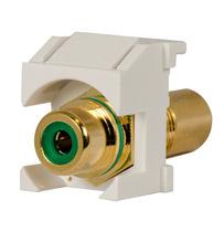 Keystone RCA to RCA (Green Insulator), White