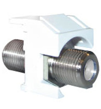 Video F-Connector, White