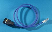 Clarity 5E 110/Mod 8 Patch Cord, Category 5e, 9', blue