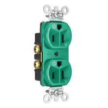 15A, 125V Dual-Controlled Plug Load Controllable Receptacle, Green