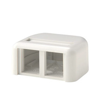 TRACJACK PLASTIC SURFACE MOUNT BOX FOR TWO TRACJACKS SINGLE SIDED, WITH COVER, WHITE