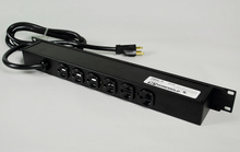 Rack Mount 120V/20A/6 rear O/L /6' cord/built in ammeter