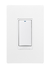 WIRELESS 1-BUTTON DIMMING WALL SWITCH WHITE