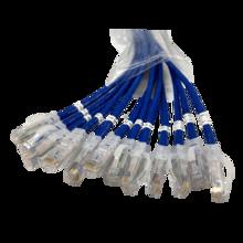 EZ Patch™ Flat Pack Clarity CAT6A 3FT, 12 Pack, Blue