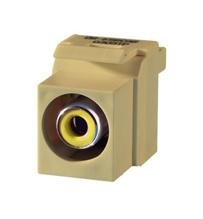 Keystone RCA to RCA (Yellow Insulator), White