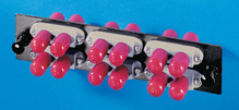 6 ST-Duplex (12 fibers) multimode adapters with phosphbronze alignment sleeves