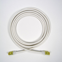 Clarity 6A modular patch cord, 15', white